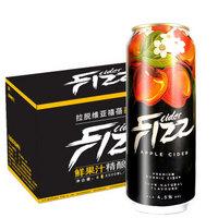 禧蓓(fizz)西打酒系列 苹果口味西打酒500ml*12听 整箱装 拉脱维亚进口