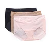 爱慕内衣KiKi裤 3件包 女士中腰三角内裤  AM221371杂色3条(黑肤粉)165/L