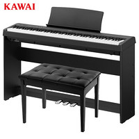 卡瓦依(KAWAI)电钢琴88键重锤 ES110B卡哇伊便携电子数码钢琴成人儿童初学专业家用 三踏板+双人琴凳大礼包