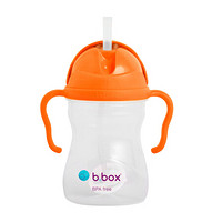 b.box 贝博士 重力吸管杯 宝宝240ml 橙黄色重力球 婴儿学饮杯 带手柄 带刻度 儿童防漏水杯