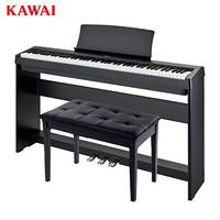 卡瓦依(KAWAI)电钢琴88键重锤 ES108新品卡哇伊便携电子数码钢琴成人儿童初学专业家用 三踏板+双人琴凳礼包