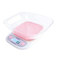 法焙客(FOR BAKE)烘焙工具 厨房秤烘焙电子秤 0.1g 食品食物小台秤克称重 粉色 0.1g/3kg