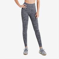 Keep 女子秋款纯色瑜伽裤运动健身跑步修身翘臀美腿紧身裤10416 高腰版 深花灰 L