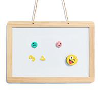AUCS 小白板小黑板 挂式写字板30*45cm 家用黑板白班儿童磁性看板双面 J3045TL