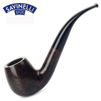 沙芬 SAVINELLI  意大利进口瓦雷泽系列棕色经典石楠木烟斗 P363LMC-602