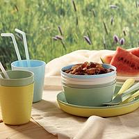 限地区:IKEA 宜家 KALAS卡拉斯 碗盘餐具组合