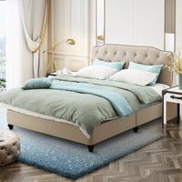 SLEEMON 喜临门  皮床床托款+进口3D芯材邦尼尔弹簧护脊床垫 主卧双人套餐  1.8*2.0m