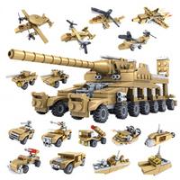 KAZI 开智 战狼2 巨炮坦克整套16盒
