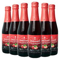 限地区:Lindemans 林德曼 草莓啤酒 250ml*6瓶 *2件