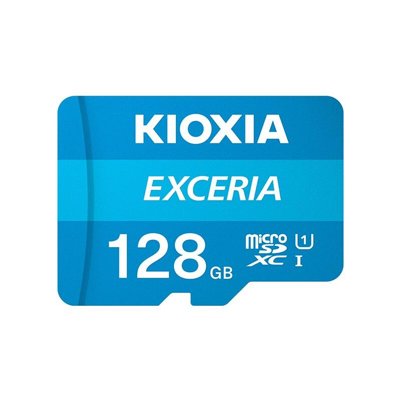 Kioxia 铠侠 EXCERIA 极至瞬速系列 U1 microSD存储卡 128GB(读速100MB/s)
