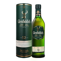 御玖轩 格兰菲迪12年单一麦芽苏格兰威士忌进口洋酒700ml