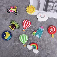 拜杰 【10个装】冰箱贴 可爱卡通创意彩虹软胶磁铁贴