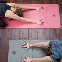 迪卡侬天然橡胶防滑瑜伽垫女专业加厚加宽初学者瑜伽健身垫YOGMA