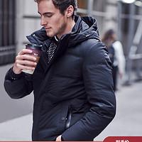 波司登新品男短款冬季可脱卸帽休闲厚款保暖羽绒服B90141003 175/92A 黑色8056