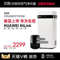 华为/HUAWEI HiLink版贝昂无耗材空气净化器家用 X3H