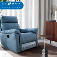 LAZBOY乐至宝单人功能沙发小户型现代简约科技布懒人单椅GN.A607 牛仔蓝 手动
