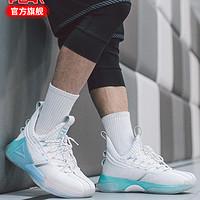 【态极虎鲸】匹克态极篮球鞋男科技舒适运动鞋男外场实战篮球鞋男 39 大白/尉兰