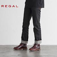 REGAL/丽格休闲时尚皮鞋系带高帮靴子固特异男鞋T93B