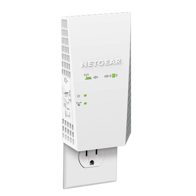 NETGEAR美国网件扩展器EX6500 AC1900M双频无线WiFi信号扩大器 千兆端口mesh家用5G信号放大器增强器中继器
