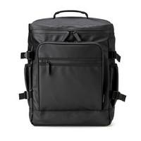 SANWA SUPPLY 商务双肩包男 15.6英寸电脑包 防水背包 大开口设计笔记本包 学生书包 黑色 15.6英寸