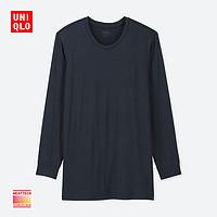 男装 HEATTECH圆领T恤(九分袖) 408111 优衣库UNIQLO