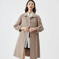 限尺码:伊芙丽 1BB972321W 双面尼格子大衣
