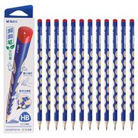 晨光(M&G)文具HB洞洞铅笔 三角木杆铅笔 学生正资沾顶木质铅笔 12支/盒AWP30716
