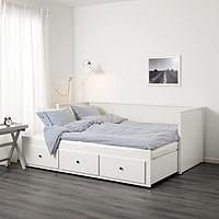 IKEA 宜家 HEMNES 汉尼斯 坐卧两用床(带3个抽屉/2个床垫)80*200cm