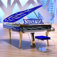 高端秀:Bluthner 博兰斯勒 Crystal HIVE/190cm德国原装进口高端定制水晶钢琴