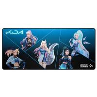 罗技(G)G840 XL游戏鼠标垫 超大400*900mm KDA定制版鼠标垫