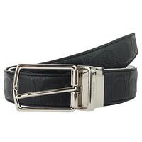 蔻驰(COACH) 奢侈品 男士腰带黑色皮革 F55158 BLK