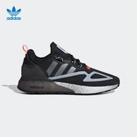 阿迪达斯官网 adidas 三叶草 ZX 2K BOOST 男女鞋经典运动鞋FY5724 黑/灰/蓝/红 41(255mm)