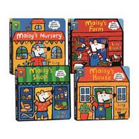 小鼠波波立体场景系列 Maisy's Nursery/Farm/House/Shop 4册游戏操