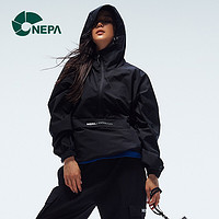 NEPA耐葩21春夏新品户外男女同款GORE-TXE防风夹克冲锋衣 黑色 175/92A