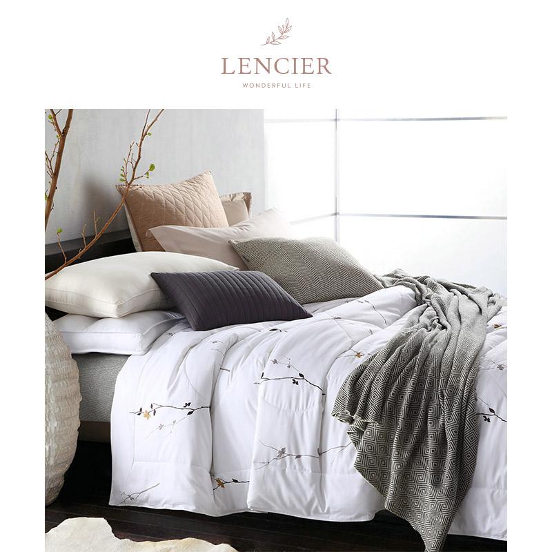LENCIER兰叙 给你恰到好处凉爽全棉纯棉夏凉被单双人空调被子被芯