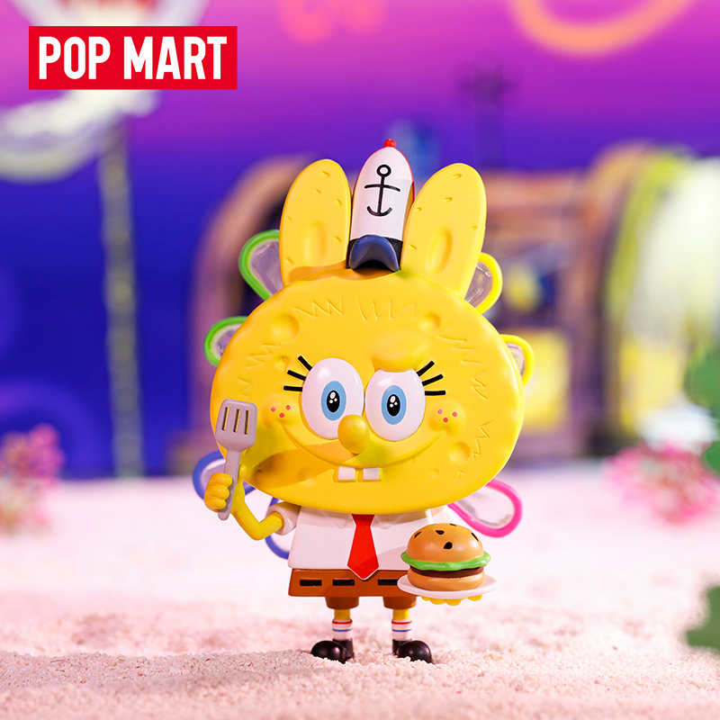 POPMART 泡泡瑪特 LABUBU海綿寶寶系列手辦盲盒擺件潮流玩具預售