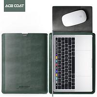 ACE COAT 13.3苹果笔记本Macbook内胆包Pro16保护套Air13英寸14/15 墨绿色 新Air13.3英寸/新Pro13.3英寸