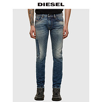 Diesel男士THOMMER-X修身直筒拼接牛仔裤00SB6C009FK