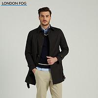 LONDON FOG/伦敦雾男士春季商务休闲翻领中长款修身版风衣单外套