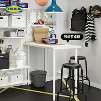 IKEA宜家LAGKAPTEN拉格开普OLOV 奥勒夫书桌支腿可升降 白色书桌120x60厘米