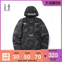 it :CHOCOOLATE男装连帽夹克冬季字母迷彩7219ADD