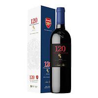 圣丽塔(Santa Rita)120黑金系列美乐干红葡萄酒 750ml 单瓶礼盒装 智利原瓶进口红酒