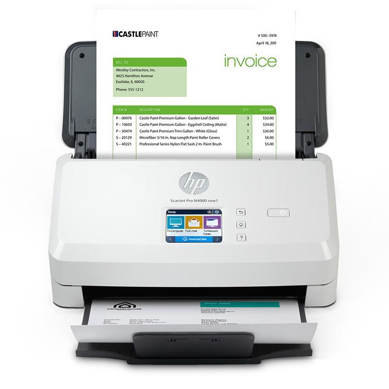 惠普(HP)N4000 snw1扫描仪 高速扫描  票据扫描 单通双面扫描 40页/分钟 (无线WIFI+有线)