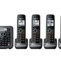 Panasonic 松下 KX-TG7645M 无绳电话套装(五部子机、DECT6.0+、蓝牙)