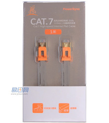 POWERSYNC 群加 CAT7-EFIMG18 CAT7 1米 7类扁网线