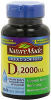 Nature Made Vitamin D3 维生素D3 2000IU 250粒