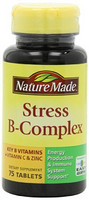 Nature Made Stress B Complex with Zinc Tablets 压力缓解 B族维生素 75粒