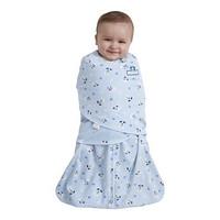 HALO 2860 婴儿纯棉包裹式睡袋 蓝色 新生儿