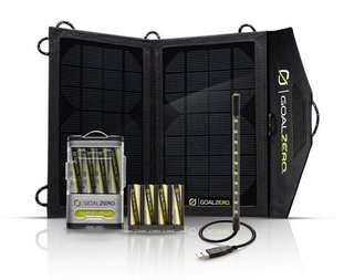 Goal Zero Portable Solar Power 便携式太阳能充电套装