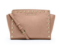 MICHAEL Michael Kors Selma Medium Studded 女士真皮手提包